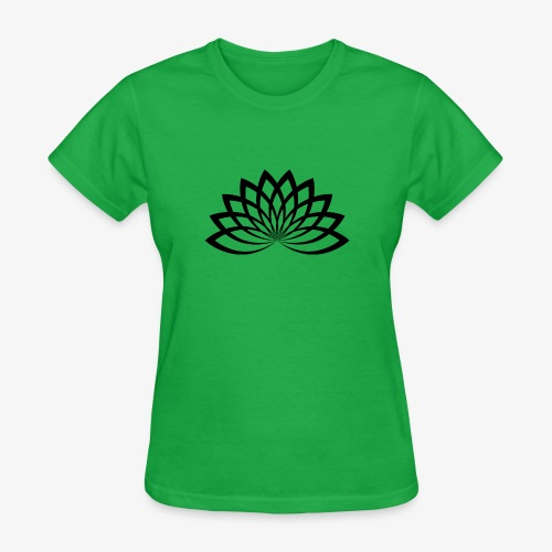 lotus noir - T-shirt pour femmes