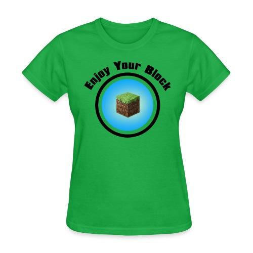 enjoy block black - Women's T-Shirt