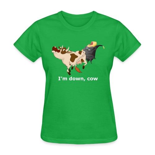 down cow wh - Women's T-Shirt