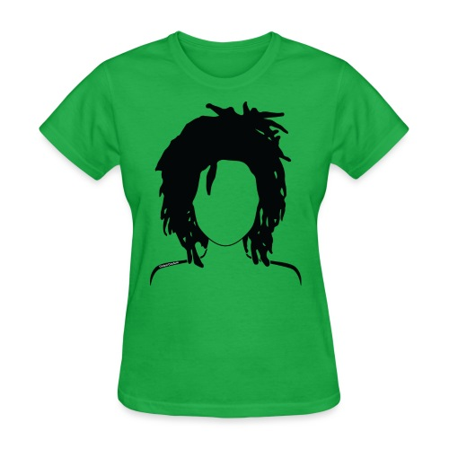 Loc Lady 3 no lips 2 png - Women's T-Shirt