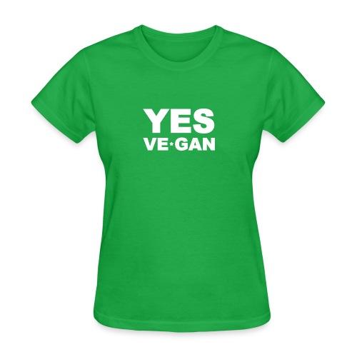 Yes Ve*Gan - Women's T-Shirt