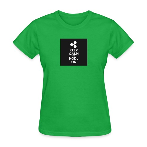 303984810 1020176758 KEEP CALM and HODL ON 1 - Women's T-Shirt