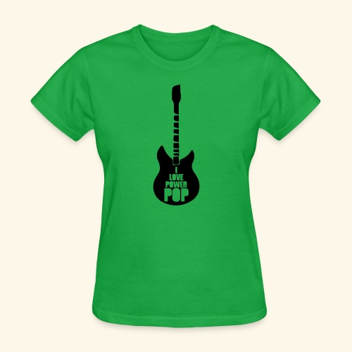 I Love Power Pop Guitar - Women's T-Shirt