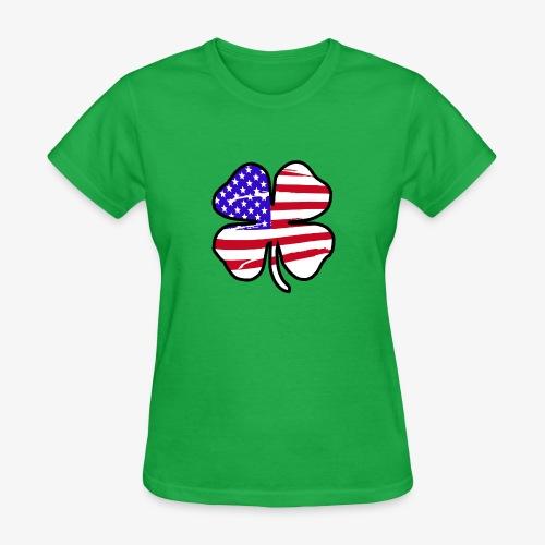 4 Leaf Lucky Clover Flag - Women's T-Shirt