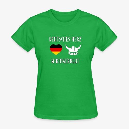 Deutsches Herz Wikinger Blut - Women's T-Shirt