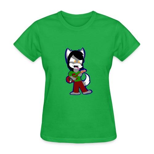 Lobo playing his Gutiar - Women's T-Shirt