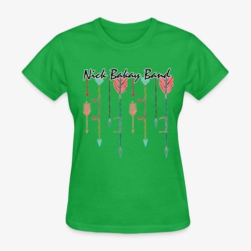 Arrow Band Name Design - Women's T-Shirt
