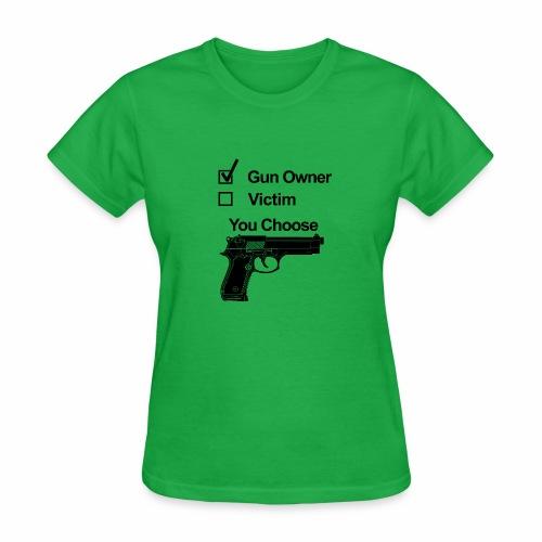 gun owner victim - Women's T-Shirt