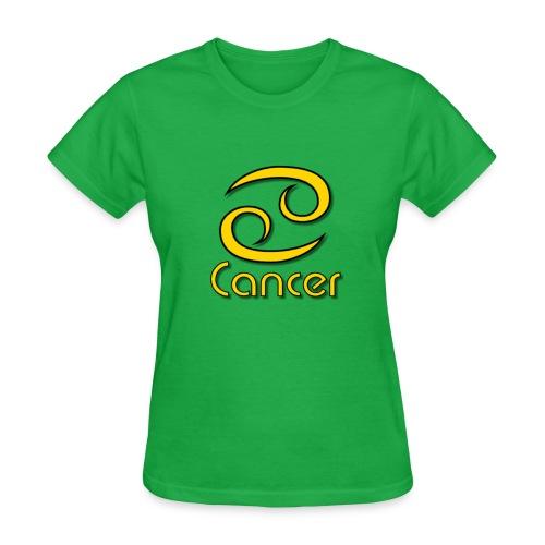 zodiac cancer yellow 1 - Women's T-Shirt
