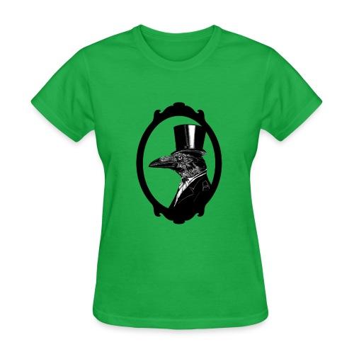 Raven in top hat - Women's T-Shirt