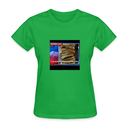 Breaking News Live Burger Challenge Master - Women's T-Shirt