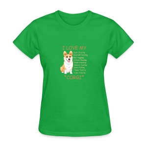 I Love My Corgi - Women's T-Shirt