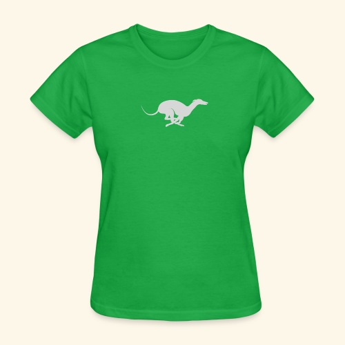 Light Grey Running Greyhound - Women's T-Shirt