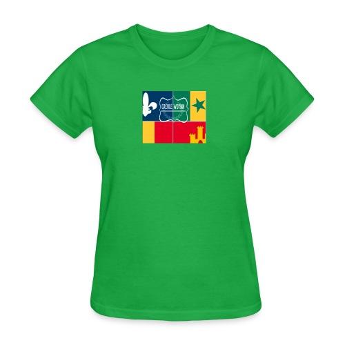 Creole Woman Louisiana Cultural Flag - Women's T-Shirt