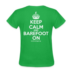 Keep Calm and Barefoot On - Women's T-Shirt