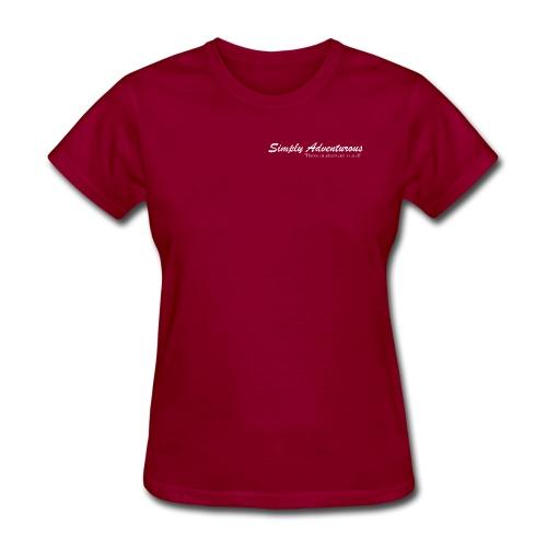Simply Adventurous WHITE Design - Women's T-Shirt