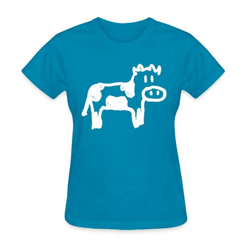 Cow - Reverse - Women's T-Shirt