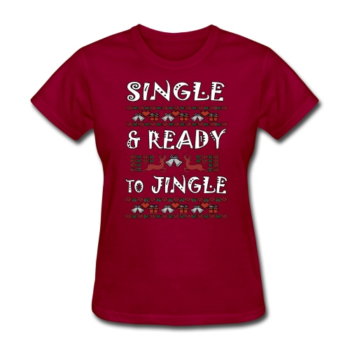 single and ready to jingle for christmas - Women's T-Shirt