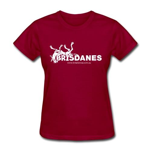 Brisdane Logo White - Women's T-Shirt