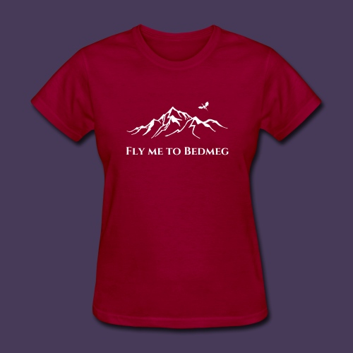 Fly Me to Bedmeg (white) - Women's T-Shirt