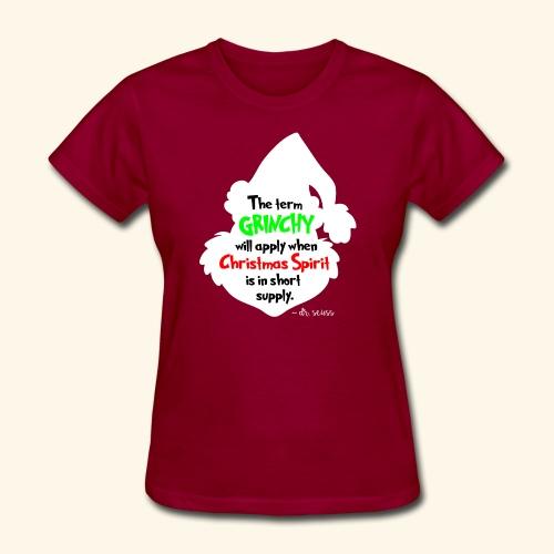 The Term Grinchy - Women's T-Shirt