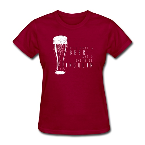 Beer and 2 Shots - Women's T-Shirt