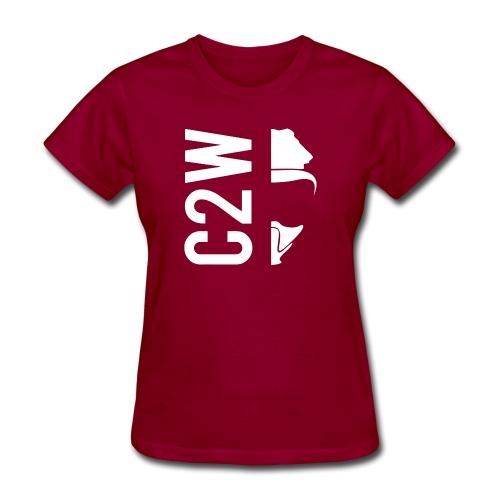 C2W Split Logo - White - Premium Tee - Women's T-Shirt