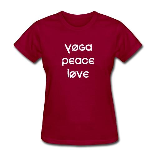 Yoga Peace Love - Women's T-Shirt