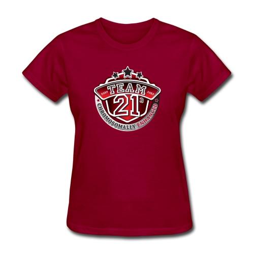 Team 21 - Chromosomally Enhanced (Red) - Women's T-Shirt