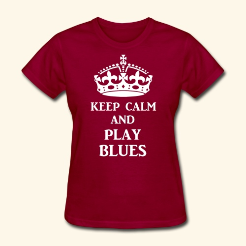 keep calm play blues wht - Women's T-Shirt