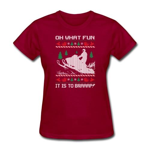 Snowmobile Fun Christmas - Women's T-Shirt