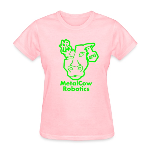 MetalCowLogo GreenOutline - Women's T-Shirt