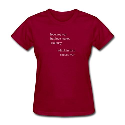 love not war (invert) - Women's T-Shirt