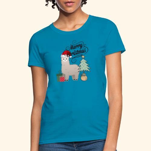 Christmas Lama - Women's T-Shirt