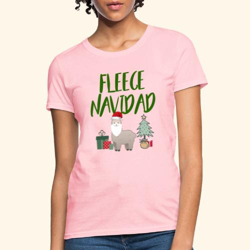 FLEECE Navidad Christmas lama Tee - Women's T-Shirt