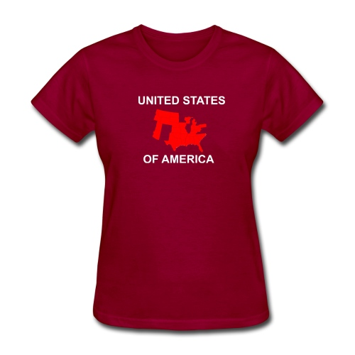 United States Fly Over Country - Women's T-Shirt
