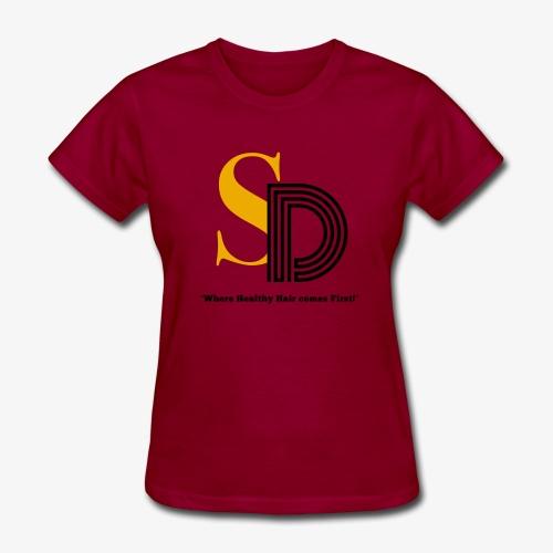 SD striped logo - Women's T-Shirt