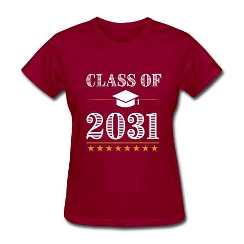 Class of 2031 T-Shirt Grow With Me - Women's T-Shirt