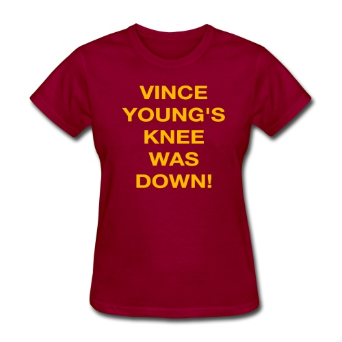 Vince Young's Knee Was Down - Women's T-Shirt