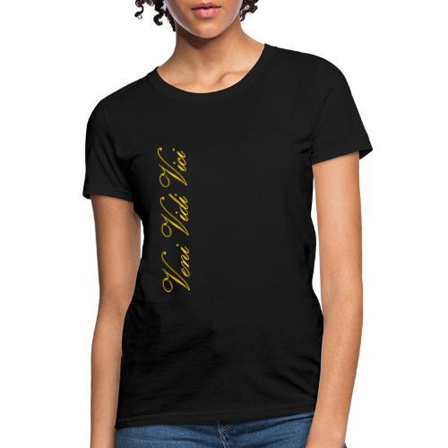 Zyzz Veni Vidi Vici Calli text - Women's T-Shirt