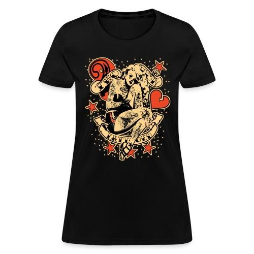 Screwed & tattooed Pin Up Zombie - Women's T-Shirt