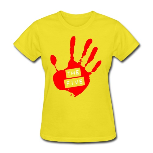 the five logo red on transparent brigh - Women's T-Shirt
