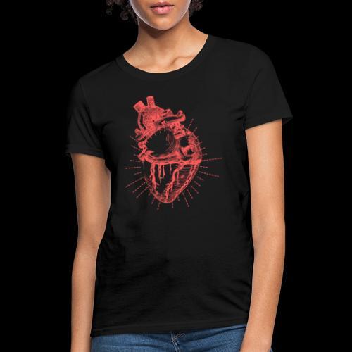 Hand Sketched Heart - Women's T-Shirt