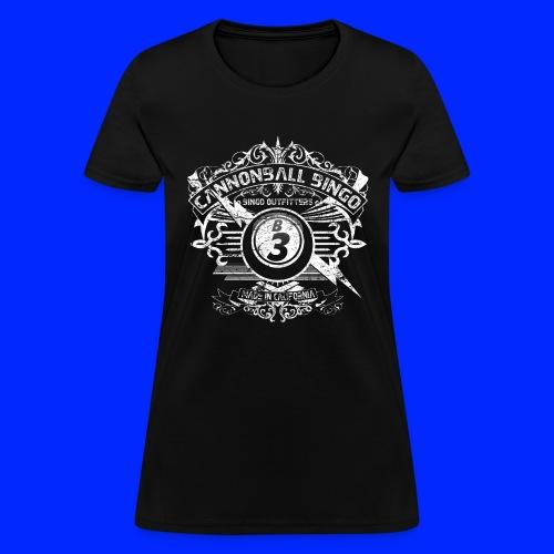 Vintage Cannonball Bingo Crest White - Women's T-Shirt