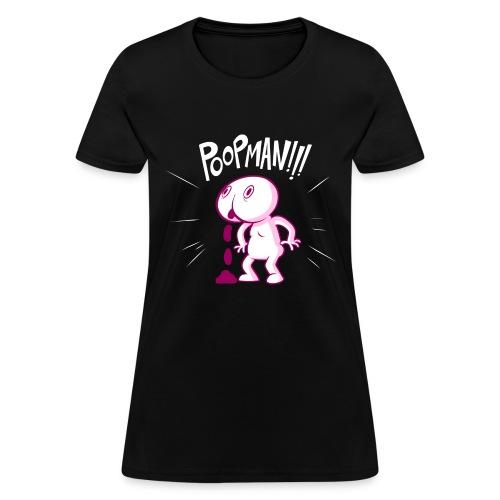 POOPMAN0CHICKS png - Women's T-Shirt