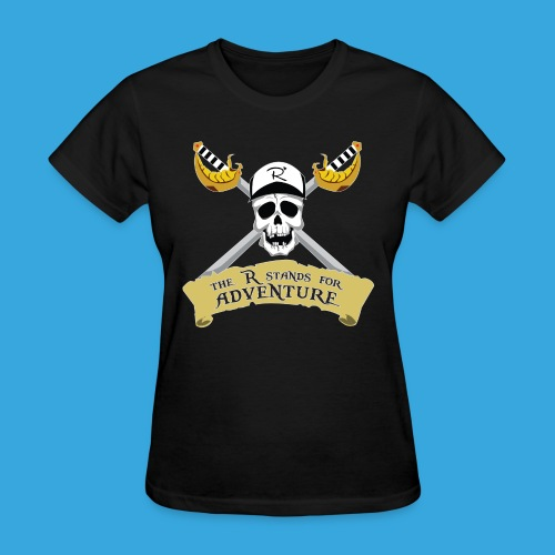 Pirate R for Adventure - Women's T-Shirt