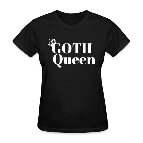 Goth WHITE LARGE - Women's T-Shirt