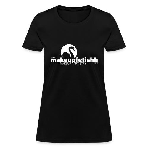 makeupfetishh logo white - Women's T-Shirt