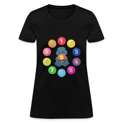 Numbers Hippo - Women's T-Shirt