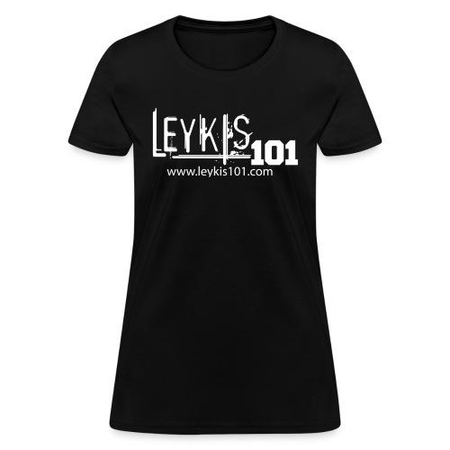 101 White Logo With Domain - Women's T-Shirt